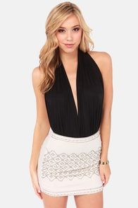 Got the Halts For You Black Bodysuit at Lulus.com!