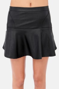 Darling in Detail Black Vegan Leather Skirt at Lulus.com!