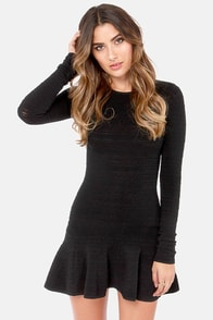Swinging Sixties Black Mini Dress at Lulus.com!