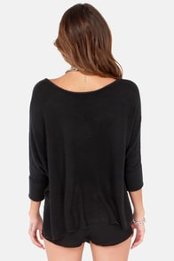 Lavish is My Command Black Sweater at Lulus.com!