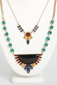 Semicircle of Life Layered Necklace at Lulus.com!