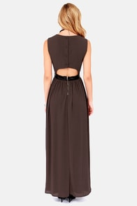 LULUS Exclusive Height of My Life Sable Maxi Dress at Lulus.com!