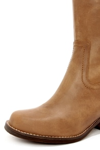 Very Volatile Kiara Tan Knee High Leather Riding Boots at Lulus.com!