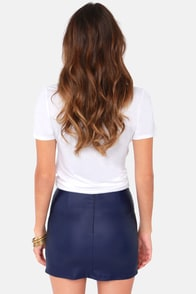 Double Vision Blue Mini Skirt at Lulus.com!
