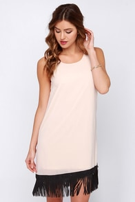 Daisy If You Do Beige Fringe Dress at Lulus.com!