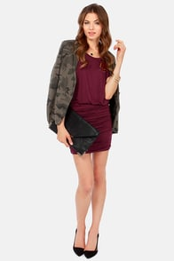 Ruches with Fame Burgundy Dress at Lulus.com!
