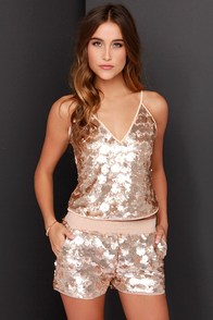 Modern Magic Matte Gold Sequin Two-Piece Set at Lulus.com!