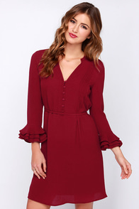 Maggie May Wine Red Dress at Lulus.com!