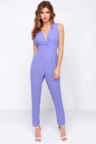 For Sienna Dressed Up to Something Periwinkle Jumpsuit at Lulus.com!