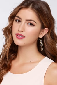 Clear Skies Ahead Gold Rhinestone Earrings at Lulus.com!