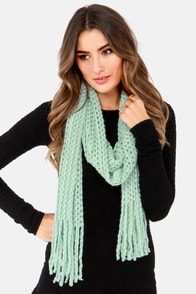 In the Pastel Mint Green Scarf at Lulus.com!