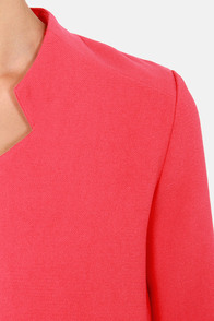 All Work and More Play Coral Pink Blazer at Lulus.com!