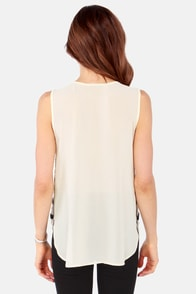 Bead-acious Beauty Beaded Cream Top at Lulus.com!