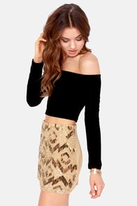 Mink Pink Seeing the Ex Black Velvet Crop Top at Lulus.com!