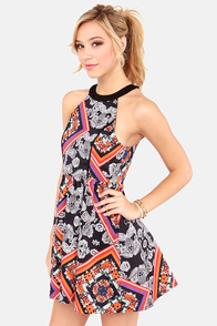 Mink Pink Lay Lady Scarf Print Dress at Lulus.com!