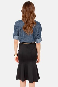 TFNC Tess Black Midi Skirt at Lulus.com!