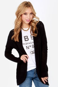 Sweater Business Bureau Black Cardigan Sweater at Lulus.com!