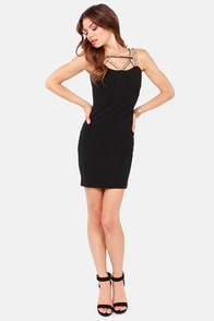 Take Center Cage Black Sequin Dress at Lulus.com!