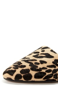 Report Signature Sophe Leopard Pony Fur D'Orsay Flats at Lulus.com!