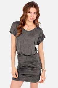 Ruches with Fame Grey Dress at Lulus.com!