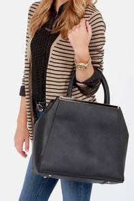 Tote Couture Black Tote at Lulus.com!