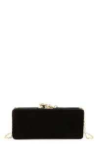 Love and Jaguar Black Velvet Clutch at Lulus.com!