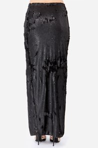 Blaque Label Mind Over Matter Black Sequin Maxi Skirt at Lulus.com!