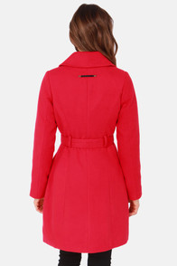 Lavand Falling For You Red Coat at Lulus.com!