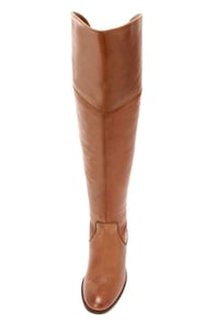 Over The Knee Tan Leather Boots - Yu Boots