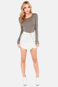 Rock Your Body Backless Grey Bodysuit at Lulus.com!