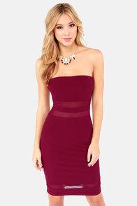Curve Your Enthusiasm Burgundy Bodycon Dress at Lulus.com!