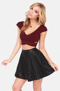 Reach the Peek Wine Red Crop Top at Lulus.com!