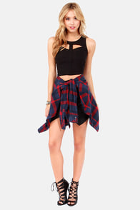 Crop, Hammertime! Cutout Black Crop Top at Lulus.com!