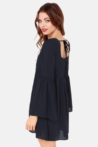 Babydoll or Nothing Navy Blue Dress at Lulus.com!