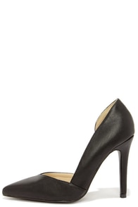 Notchy and Nice Black D'Orsay Pumps at Lulus.com!