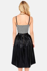 Streaks of Luck Black and White Bustier Top at Lulus.com!