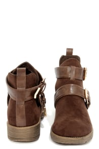 Rondie 1 Brown Suede Cutout Ankle Boots at Lulus.com!