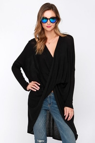 On My List Black Long Sleeve Sweater Top at Lulus.com!
