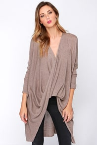 On My List Taupe Long Sleeve Sweater Top at Lulus.com!
