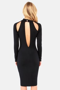Teardrop It Like It's Hot Black Midi Dress at Lulus.com!