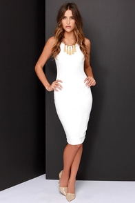 LULUS Exclusive Watch This Ivory Midi Dress at Lulus.com!