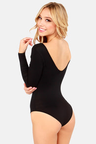 Body Talk Black Bodysuit at Lulus.com!