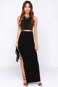 BB Dakota Zellie Black Maxi Skirt at Lulus.com!