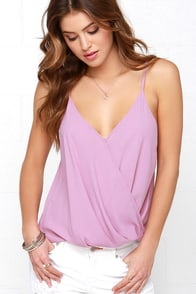 Certain Flirtin' Mauve Top at Lulus.com!
