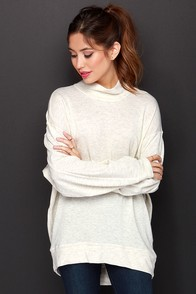 Make a Mockery Beige Sweater at Lulus.com!