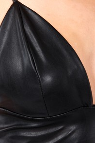 Go For Glory Black Vegan Leather Bra Top at Lulus.com!