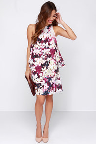 Glamorous Botanical Artist Purple Floral Print Dress at Lulus.com!