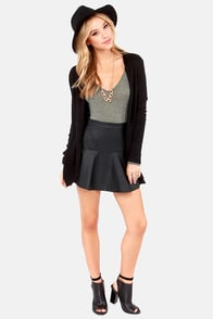 Body Talk Grey Bodysuit at Lulus.com!