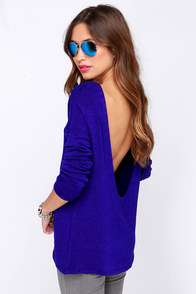 LULUS Exclusive Won't Back Down Royal Blue Sweater Top at Lulus.com!