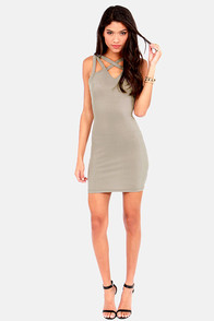 X Appeal Grey Bodycon Dress at Lulus.com!